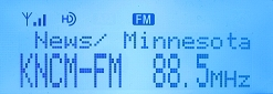 An IBOC decode from KNCM Appleton, MN, at 1059 miles over local WAMU, which also broadcasts IBOC.