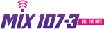 "WRQX's previous logo as ""Mix 107-3."""