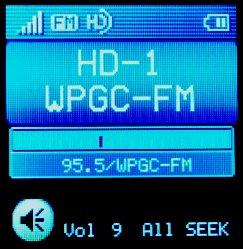 Close up of NS-HD01 screen showing HD decode