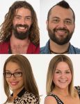 BBAU 2013 intruders.  From top left to bottom right: Justynn, Nathan, Madaline, Boog.