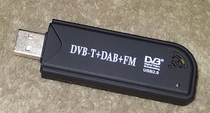 The RTL-SDR dongle radio.