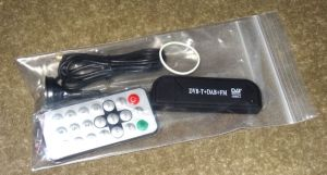 The RTL-SDR USB dongle as received in the mail.